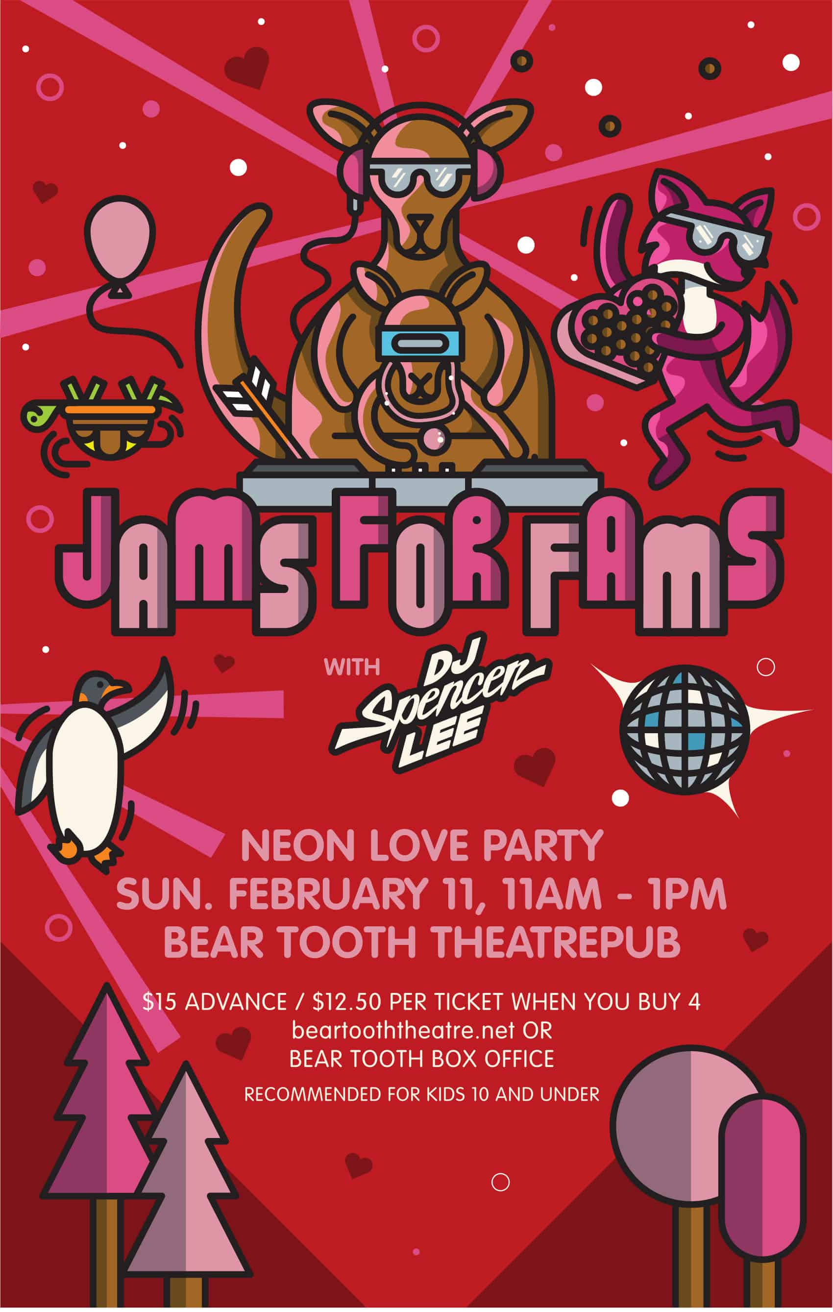 Jams for Fams Valentines 2018